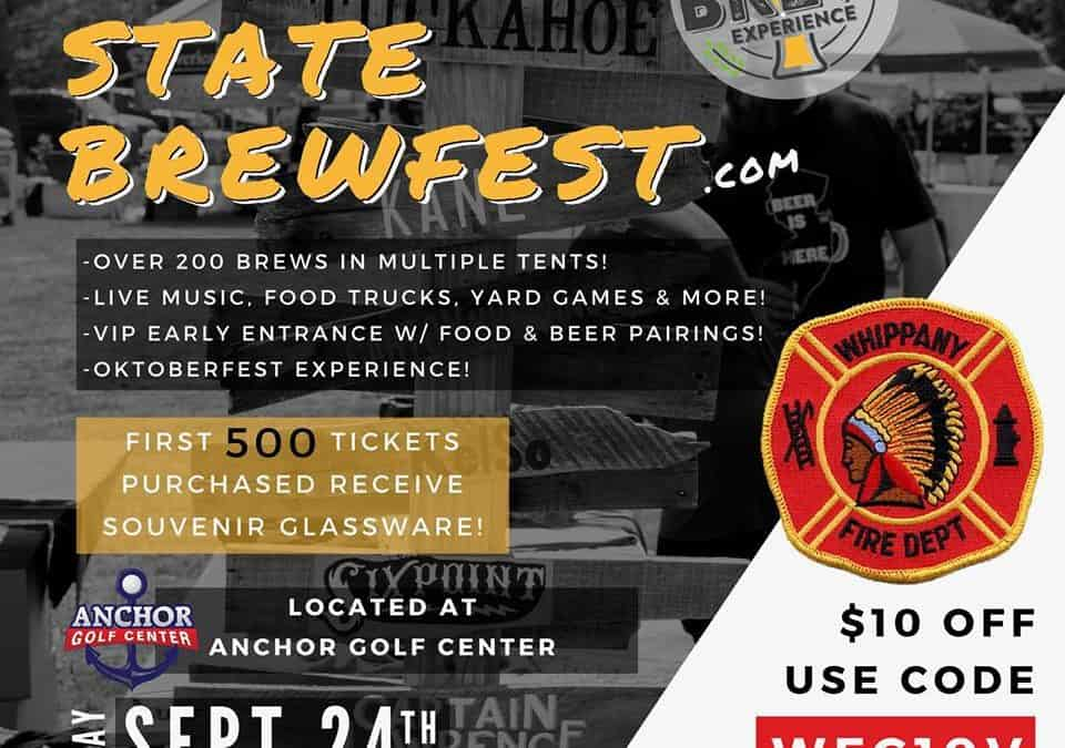 The Whippany Fire Brewfest is less then a week a way!!