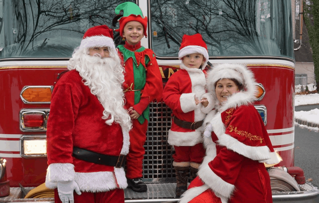 Santa came to visit Whippany with his friends from the Whippany Fire Company